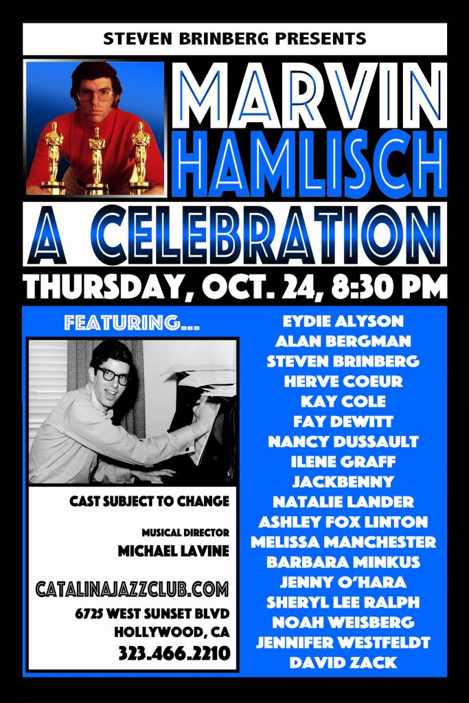 Marvin Hamlisch LA POSTCARD 9-24-19 DIAMOND